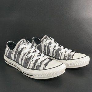 Converse Womens Dainty Zebra Ox Sneakers Size 6